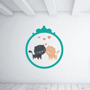 Samolepka na stenu Kitties Love