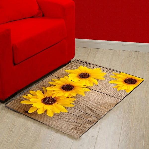 Vinylový koberec Flower, 52×75cm