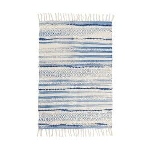 Modro-biely vlnený koberec InArt Lago, 90×60cm