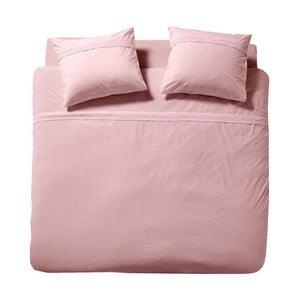 Ružové bavlnené obliečky na dvojlôžko Cinderella Simone Smoke Rose, 200 x 200 cm