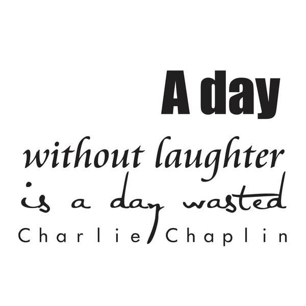 Dekoratívna nástenná samolepka Charlie Chaplin