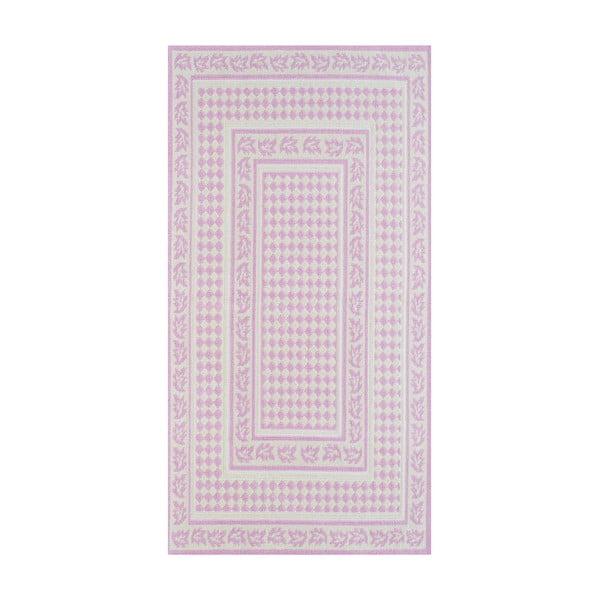 Staroružový odolný koberec Vitaus Olivia, 80x150cm