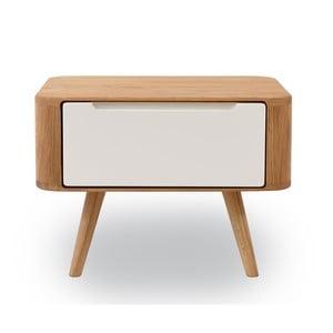 Nočný stolík z dubového dreva Gazzda Ena Two, 55 x 42 x 40 cm