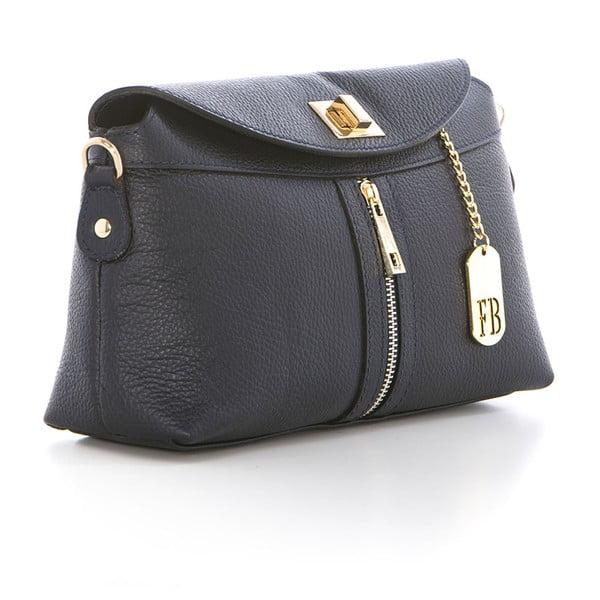 Tmavomodrá kožená kabelka Federica Bass Dione