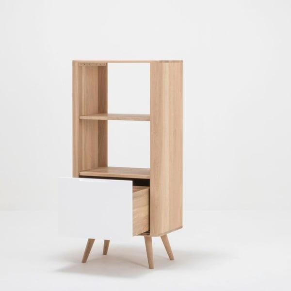 Knižnica z dubového dreva Gazzda Ena, 60 x 42 x 125 cm