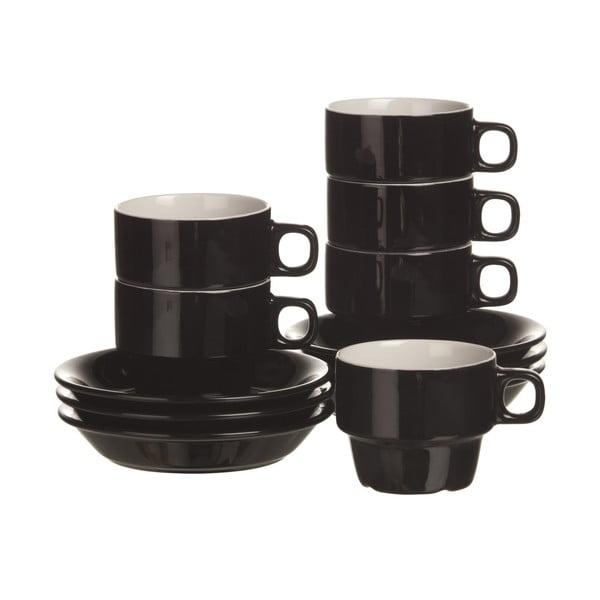 Sada 6 šálok na cappuccino Black