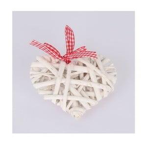 Biela závesná ratanová dekorácia Dakls Heart