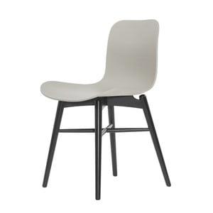 Sivá jedálenská stolička NORR11 Langue Dark