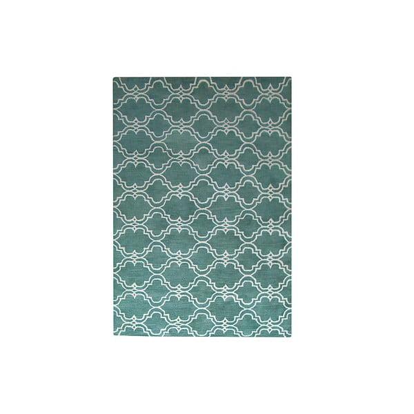 Zelený vlnený koberec Bakero Riviera, 153 x 244 cm