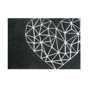Čierna rohožka Mint Rugs StateMat Heart, 50×75cm