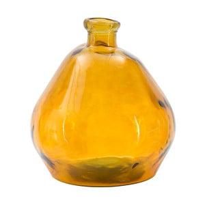Oranžová váza z recyklovaného skla Mauro Ferretti Bot, výška 50 cm