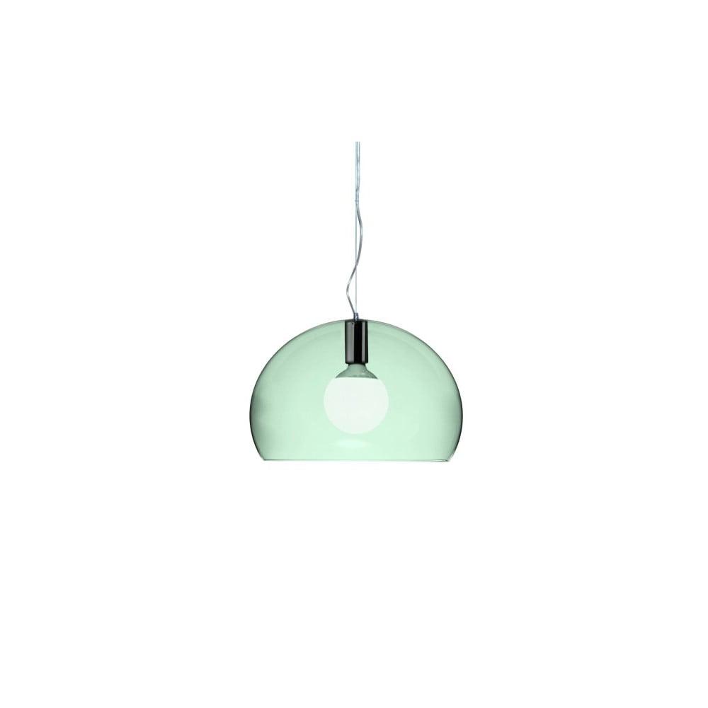 Menšie zelené stropné svietidlo Kartell Fly