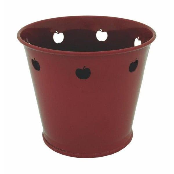 Kovový kvetináč Kovotvar s motívom jablka, 1.5 l