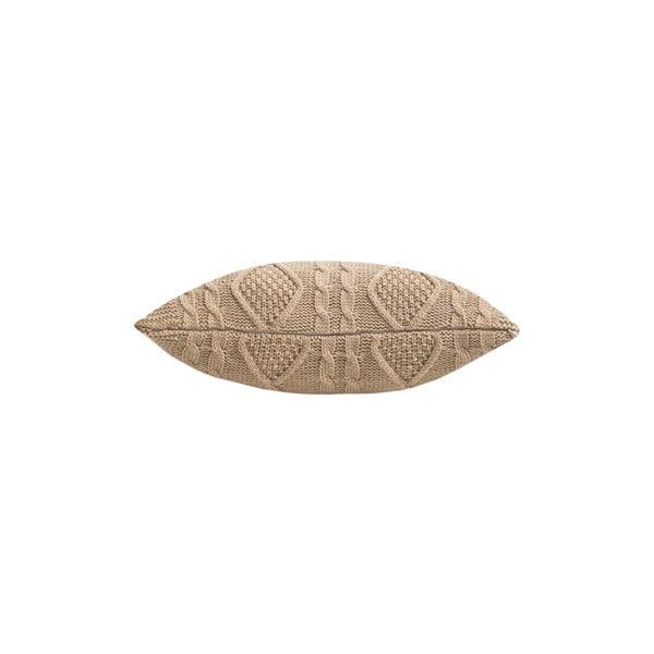 Pletená obliečka na vankúš Kosem Beige, 43x43 cm