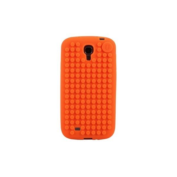 Pixelový obal na Samsung S4, oranžová