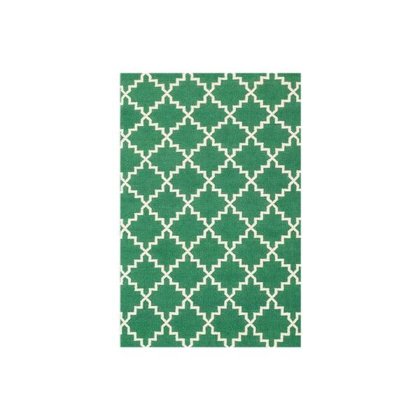 Vlnený koberec Eugenie Green, 180x120 cm