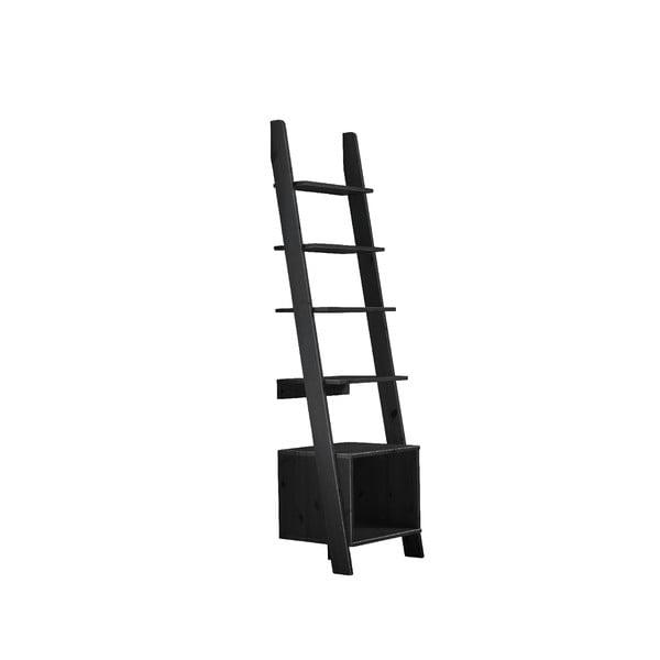 Čierny opierny rebrík s policami Karup Design Vocal Black
