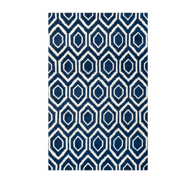 Vlnený koberec Essex Navy, 182x274 cm