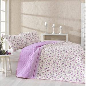 Sada prikrývky cez posteľ a dvoch obliečok na vankúš Fresh Pink, 200x220 cm