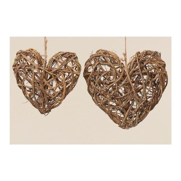 Závesná dekorácia Heart, 2 ks