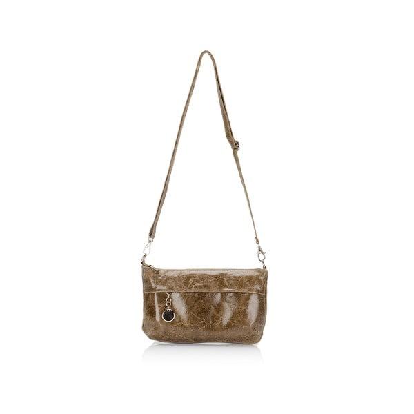 Hnedá kožená kabelka Lisa Minardi Lola