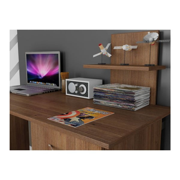 Pracovný stôl Lavanta Walnut