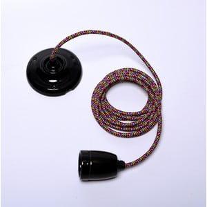 Farebný kábel na stropné svietidlo s čiernou objímkou Filament Style Diamond