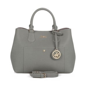 Sivá kabelka z eko kože Beverly Hills Polo Club Mona