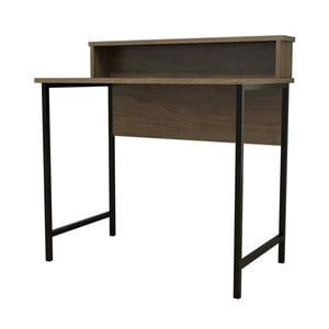 Tmavohnedý pracovný stôl Esta
