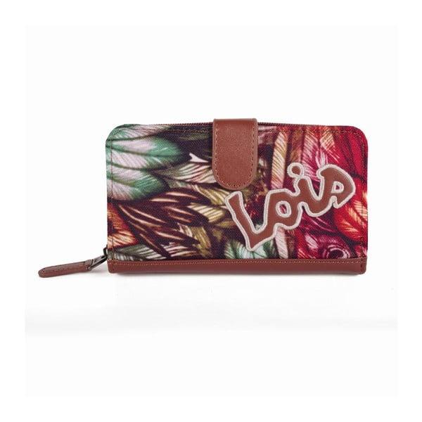 Farebná peňaženka s exotickými vzormi Lois, 16 x 9 cm