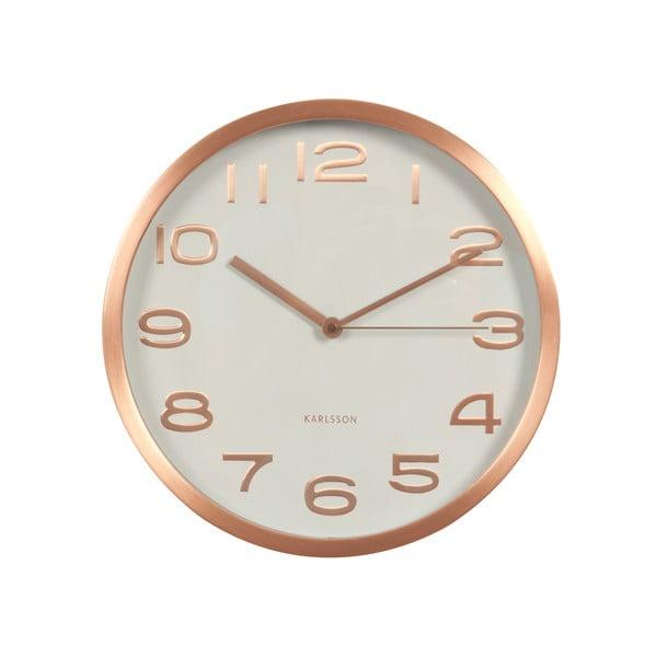Biele hodiny Present Time Maxie Copper