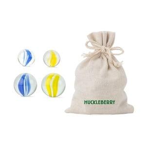 Sada 24 sklenených cvrnkacích kuliček Kikkerland Huckleberry