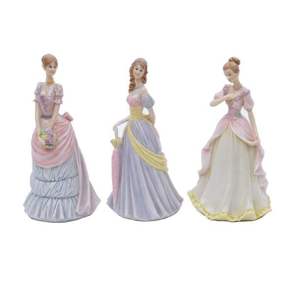 Sada 3 dekoratívnych sošiek Bolzonella Victorian Ladies