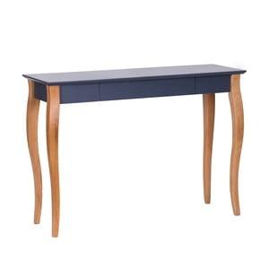 Grafitovosivý písací stôl Ragaba Lillo,dĺžka105cm
