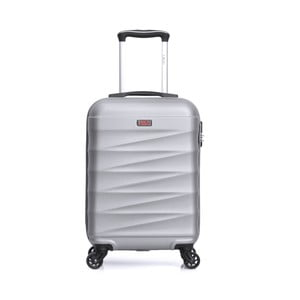 Biely cestovný kufor na kolieskach Hero Wave