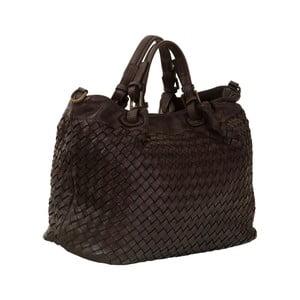 Tmavohnedá kožená kabelka Andrea Cardone Travel Brown