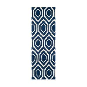 Vlnený koberec Essex Navy, 68x213 cm