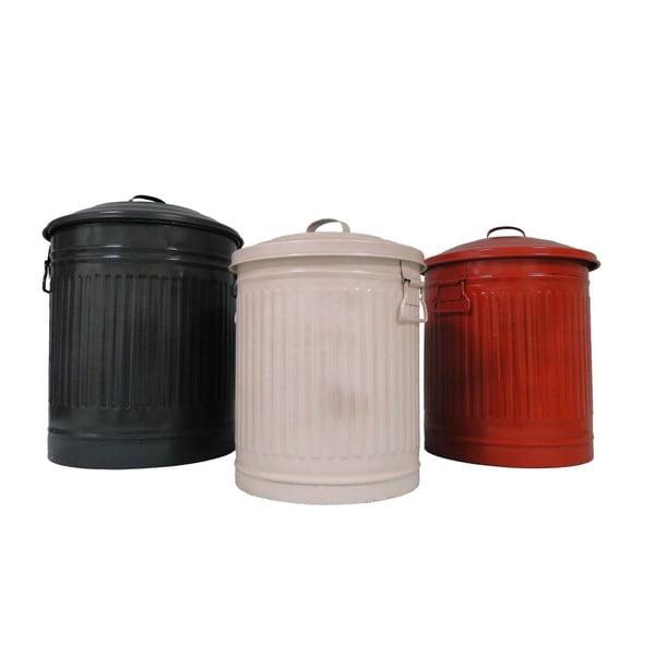 Sada 3 plechových odpadkových košov Antic Line Pubelles