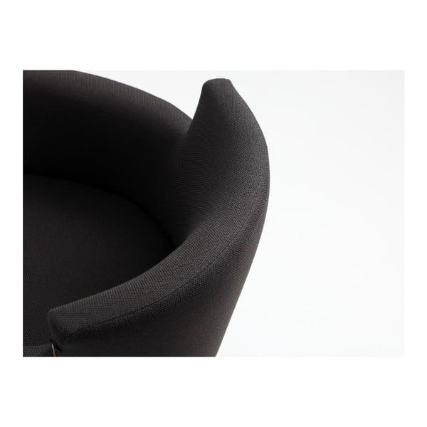 Čierne kreslo Custom Form Howard