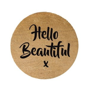 Guľatá rohožka Artsy Doormats Hello Beautiful, ⌀ 70 cm