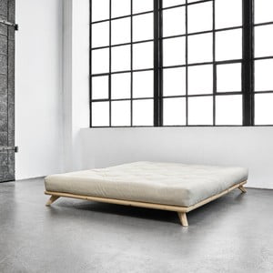 Posteľ Karup Senza Bed Natural, 140 × 200 cm