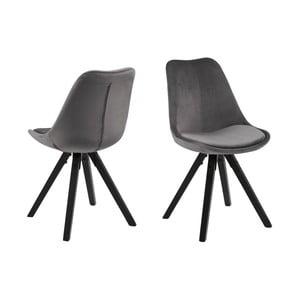 Sivá jedálenská stolička Actona Dima