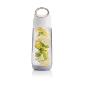 Bielo-sivá fľaša so sitkom na ovocie XD Design, 650 ml