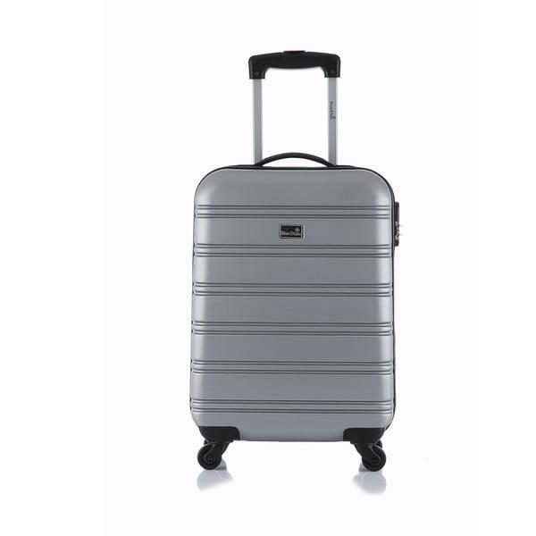 Sivý príručný kufor na kolieskach Blue Star Bilbao, 35 l