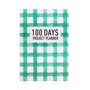 Plánovač Languo 100 Days Pattern, zelený