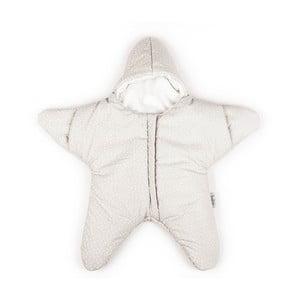 Detský vak na spanie Beige Star, vhodný aj na leto, pre deti do 3 mesiacov
