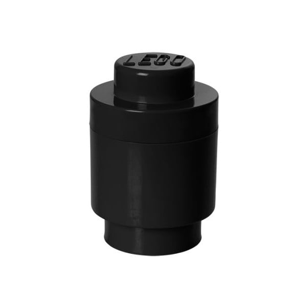 Čierny úložný okrúhly boxík LEGO®
