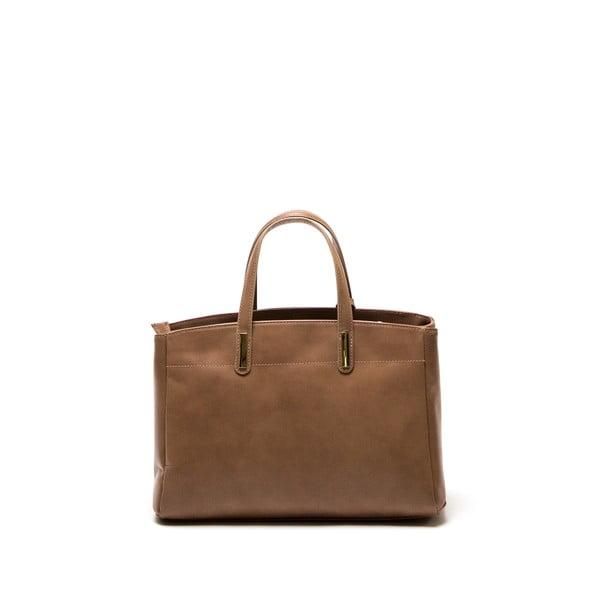 Hnedá kožená kabelka Francesca