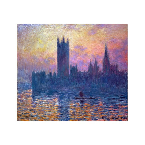 Obraz Claude Monet - The Houses of Parliament, Sunset, 50x45 cm