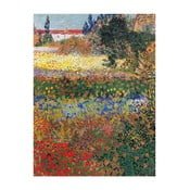 Reprodukcia obrazu Vincenta van Gogha - Flower garden, 40x30 cm